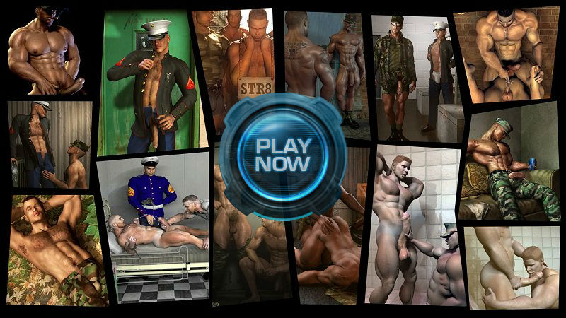 Gay Military Men Fucking in Call of Booty